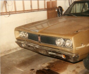 Picture of my gold 1968 Dodge Coronet 500 convertible