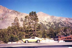 My 69 Firebird 400 at Tioga Pass, Yosemite.