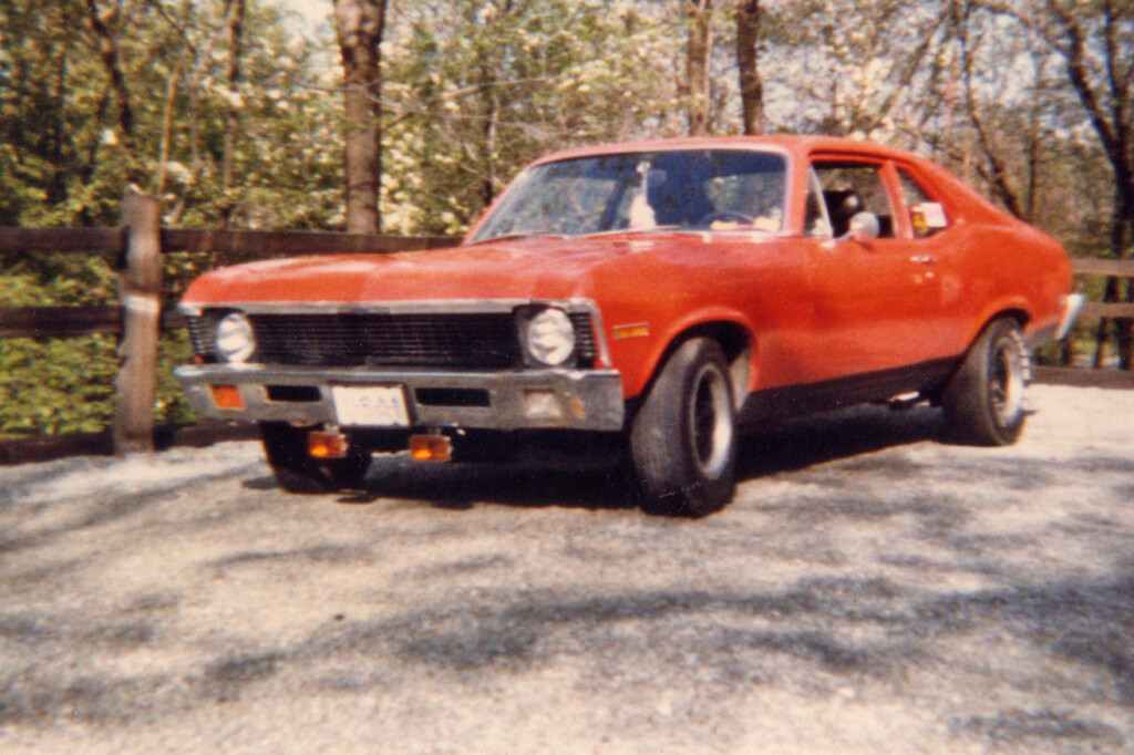 Picture of my orange 1972 Chevrolet Nova 250 straight-six
