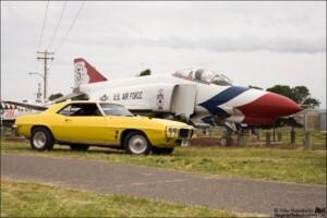 My Goldenrod Yellow 1969 Pontiac Firebird at the Castle Air Museum Car Show