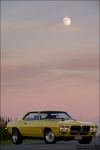 My 1969 Firebird and the Moon in Atwater, CA.