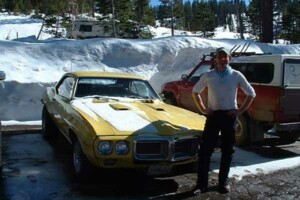 Me and my 69 Firebird 400 at the Badger Pass parking lot