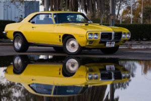 My 1969 Pontiac Firebird 400 at Castle AFB, CA.