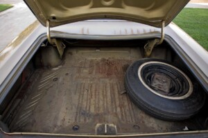 The trunk of my 1968 Dodge Coronet 500 convertible